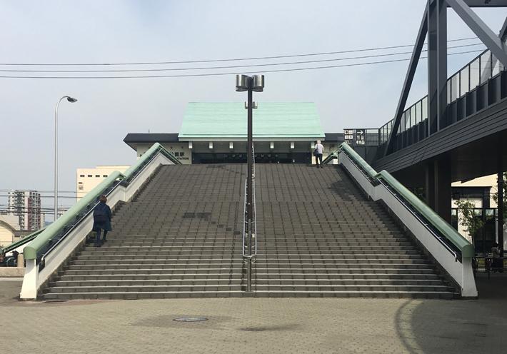 大阪城公園駅歩道橋【橋梁用防護柵】